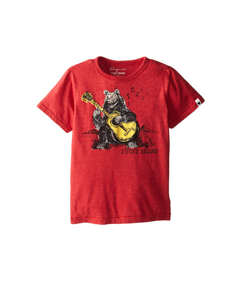 Lucky Brand Kids - Hipster Tee (Little Kids/Big Kids) (Light Formula Heather) Boy's T Shirt