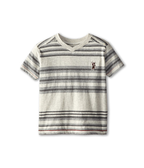 Lucky Brand Kids - Cali Bear Tee (Toddler) (Turtle Heather) Boy