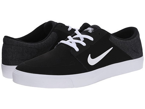 Nike SB - Portmore Nubuck (Black/White) Men