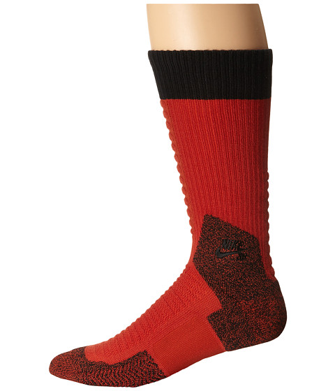 Nike SB - Skate Crew 2.0 Sock (Cinnabar/Black/Black) Crew Cut Socks Shoes
