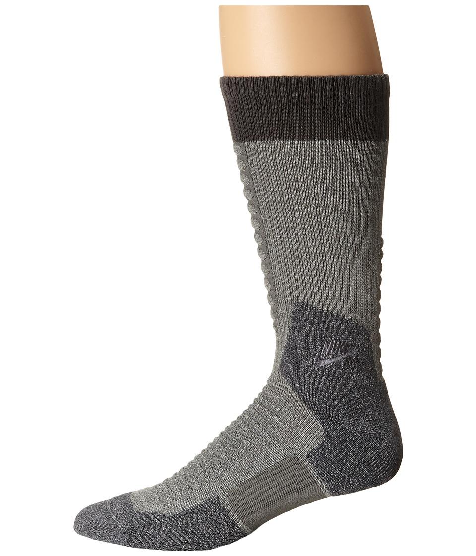 Nike Skate Crew 2.0 Sock (Dark Grey Heather/Anthracite/Anthracite) Crew Cut Socks Shoes