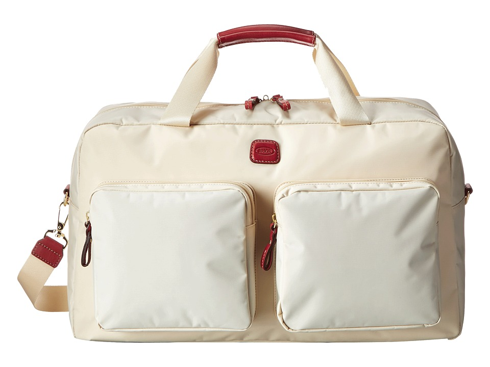 Bric's Milano - Boarding Duffel w/ Pockets (Cream) Duffel Bags