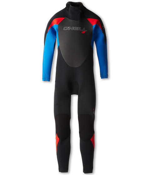 O'Neill Kids - Youth Epic 4/3 (Little Kids/Big Kids) (Black/Deepsea/Red) Boy's Wetsuits One Piece