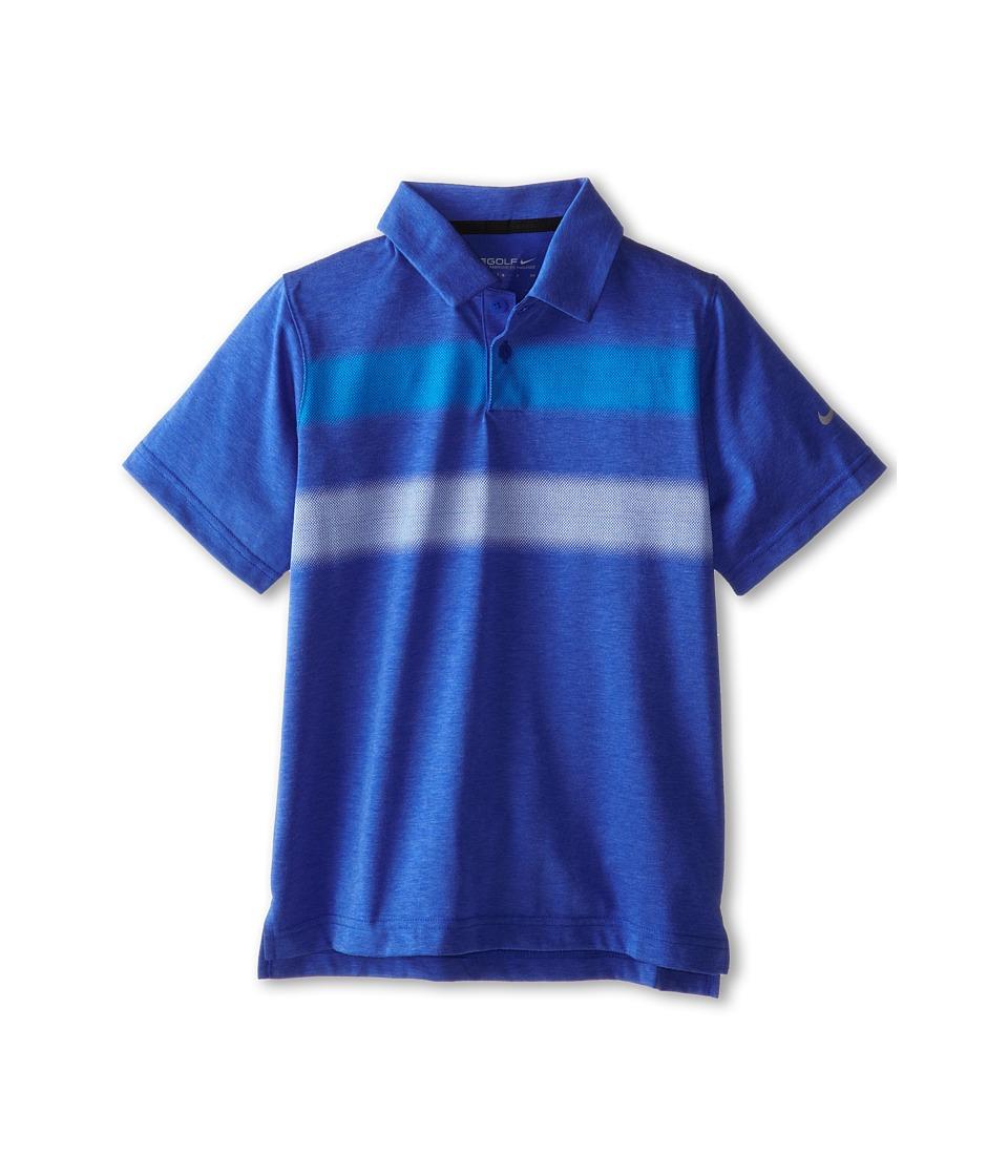 Nike Kids - Vapor Polo (Big Kids) (Lyon Blue/Wolf Grey) Boy's Short Sleeve Pullover