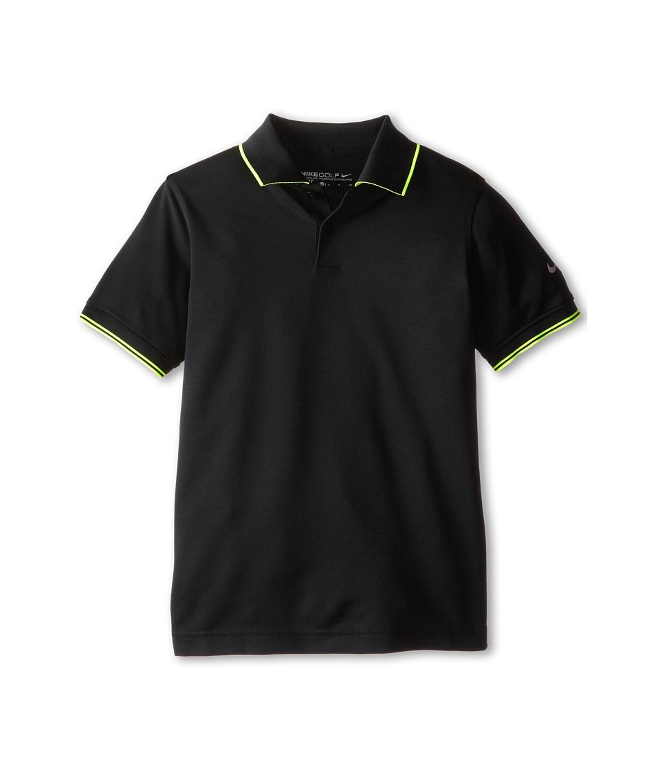 Nike Kids - Radar Polo (Big Kids) (Black/Wolf Grey) Boy's Short Sleeve Pullover