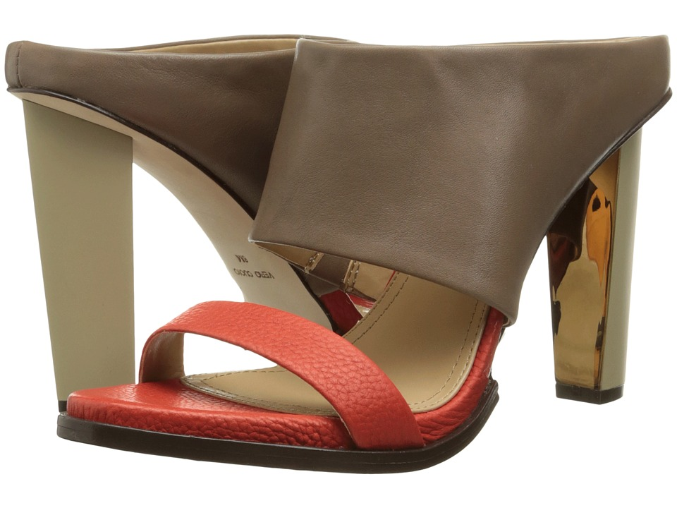 BCBGMAXAZRIA - Limber (Mushroom/Bright Red Soft Tumbled Leather) High Heels