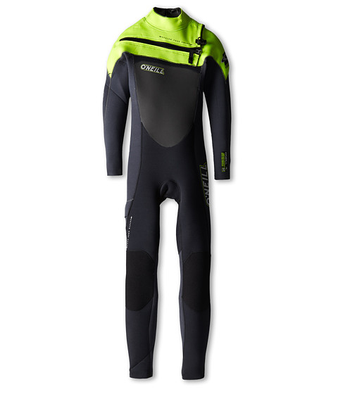 O'Neill Kids - Youth Superfreak Full Zip 3/2 (Big Kids) (Black/Graph/Lime) Boy's Swimwear