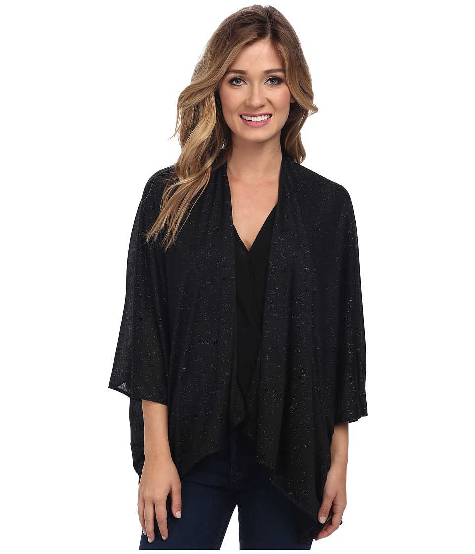 Steve Madden - Twinkle Jersey Shirt Tail Topper (Black) Women's Clothing