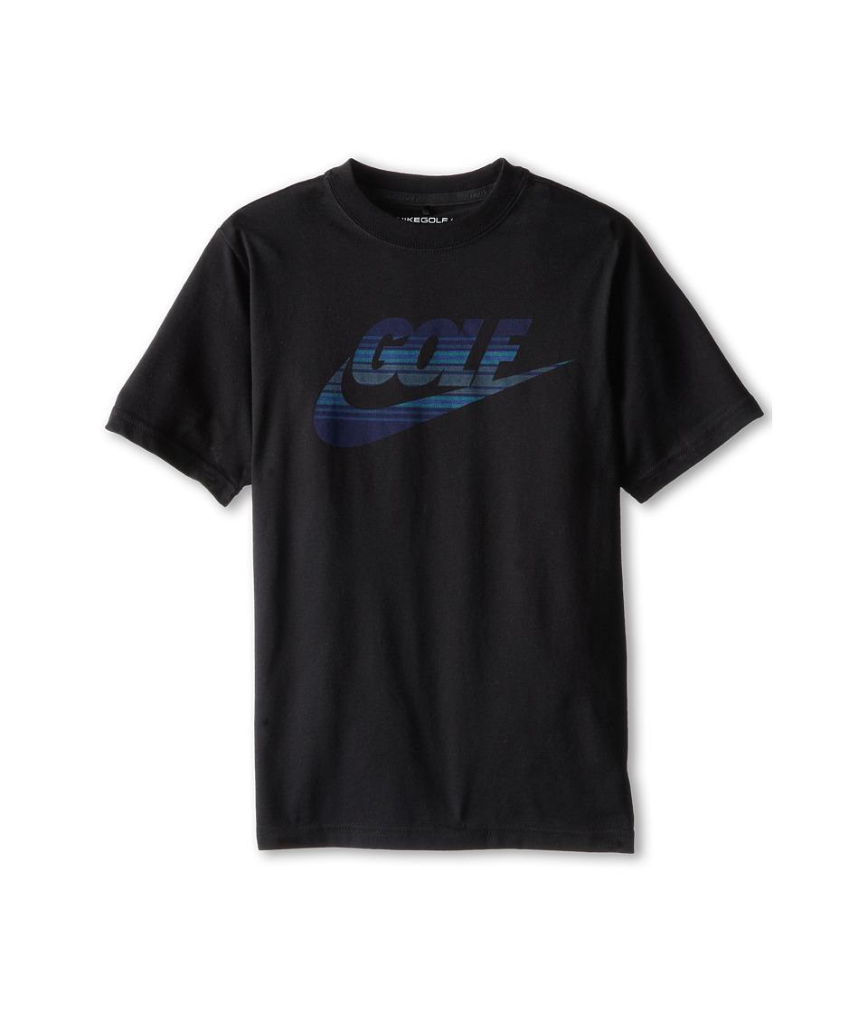 Nike Kids - Amplify Tee (Big Kids) (Black/Light Retro) Boy's T Shirt