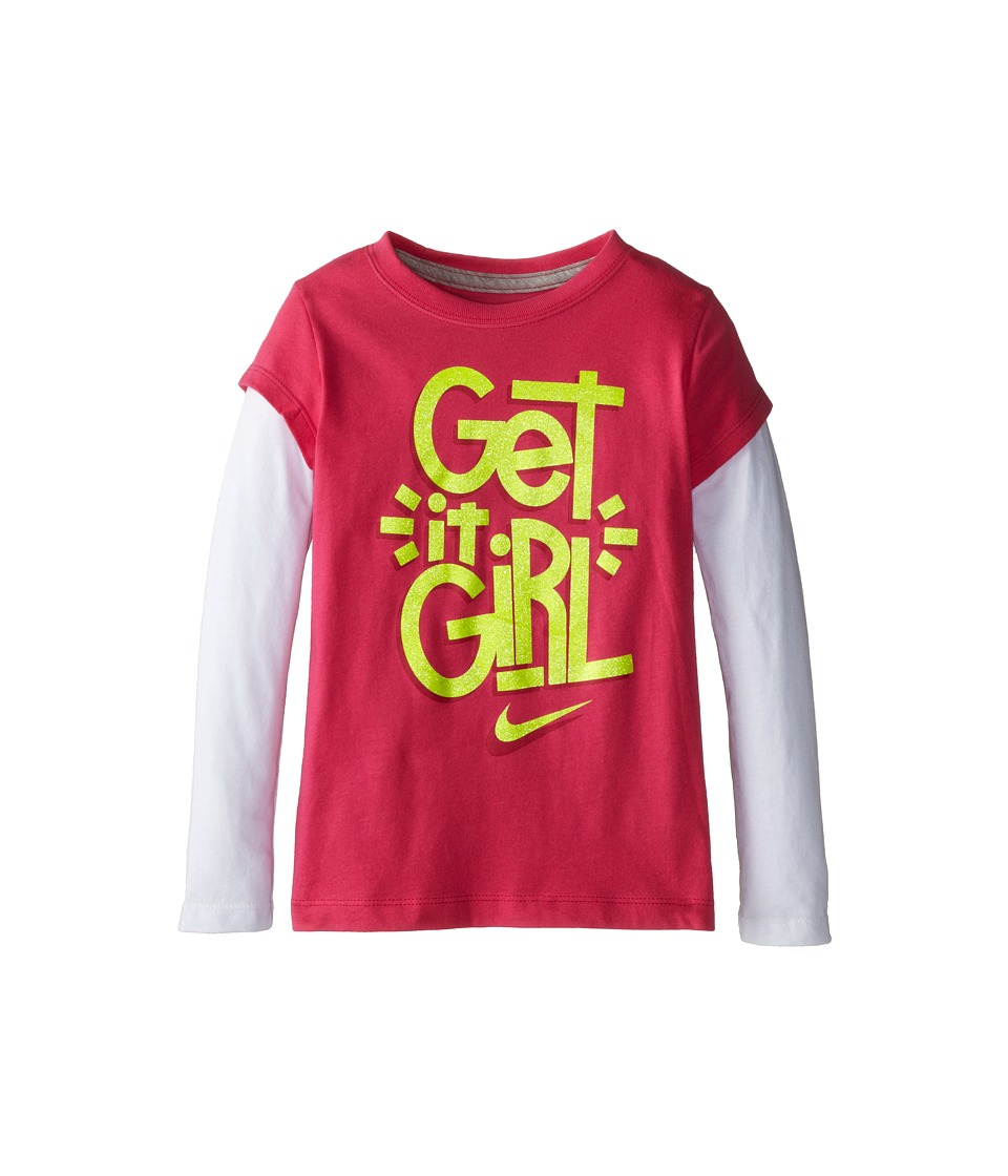 Nike Kids - Get It Girl 2Fer (Little Kid) (Dark Hyper Pink) Girl's T Shirt