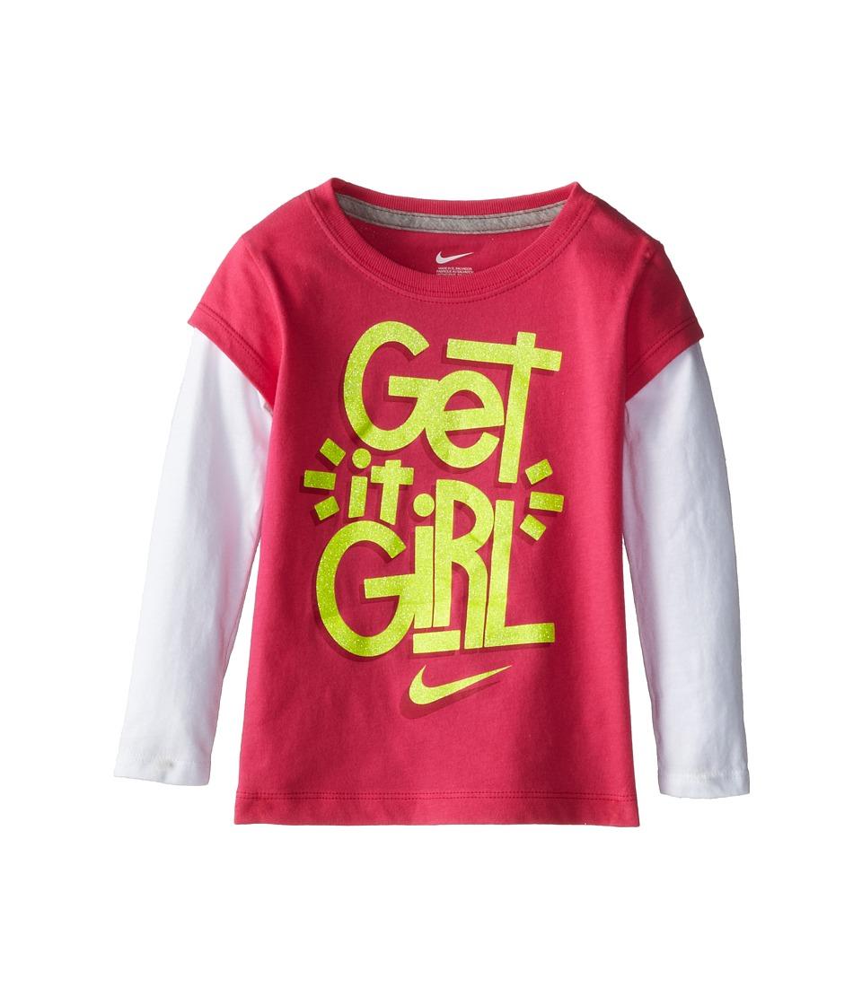 Nike Kids - Get It Girl 2Fer (Toddler) (Dark Hyper Pink) Girl