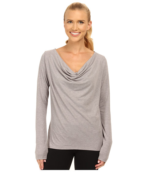 Lucy - Enlightening Long Sleeve Top (Silver Filigree Heather) Women's Long Sleeve Pullover