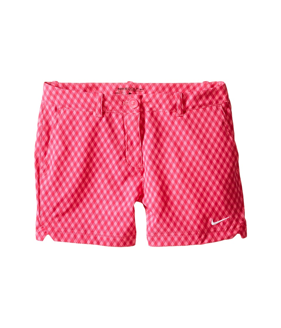 Nike Kids - Gingham Short (Little Kids/Big Kids) (Pink Pow/Pink Pow/Hot Pink/White) Girl's Shorts