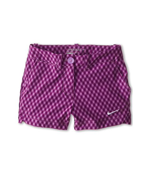 Nike Kids - Gingham Short (Little Kids/Big Kids) (Violet Shock/Violet Shock/Bold Berry/White) Girl's Shorts