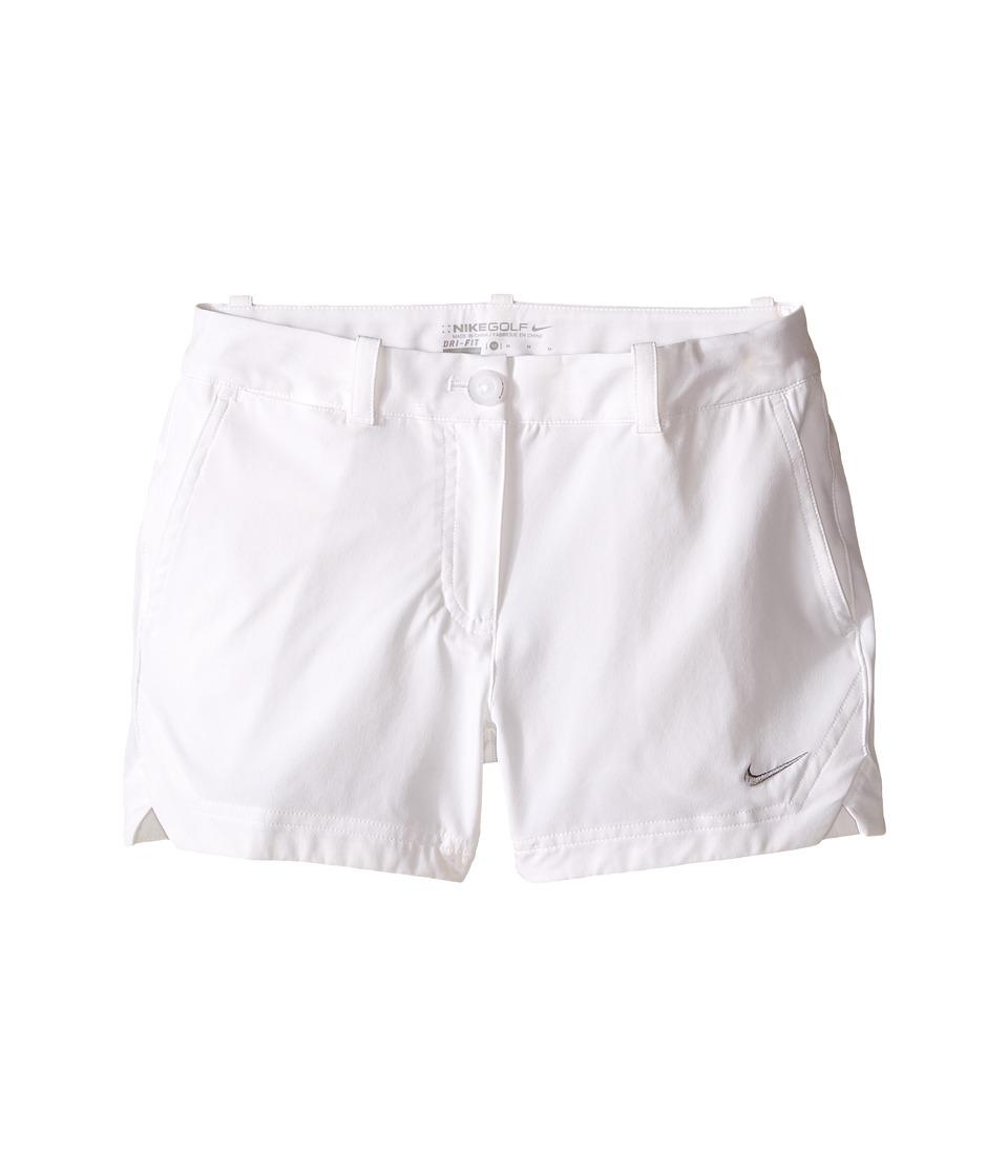 Nike Kids - Dri-FIT Short (Little Kids/Big Kids) (White/Wolf Grey) Girl's Shorts