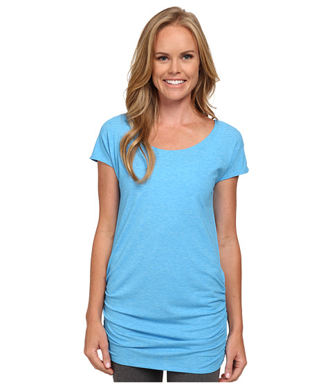 Lucy - Yoga Girl Tunic Top (Bright Blue Heather) Women's Workout