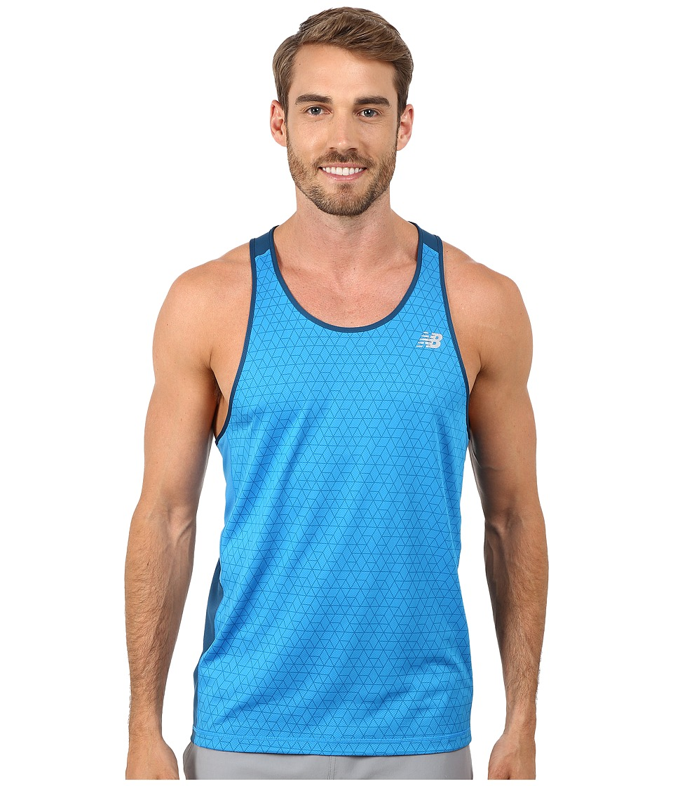 New Balance - NB Ice Singlet (Deep Water/Bolt) Men's Workout