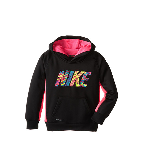 Nike Kids - Therma Fit Pullover Hoodie (Little Kids) (Black) Girl