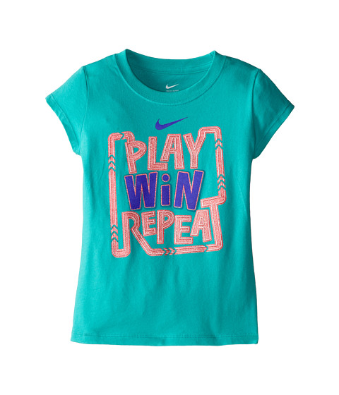 Nike Kids - Play, Win, Repeat Short Sleeve Tee (Little Kids) (Hyper Jade) Girl