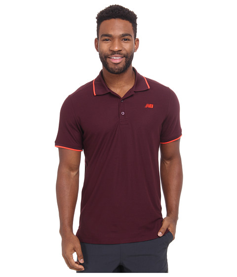 New Balance - Challenger Classic Polo (Burgundy) Men's Short Sleeve Pullover