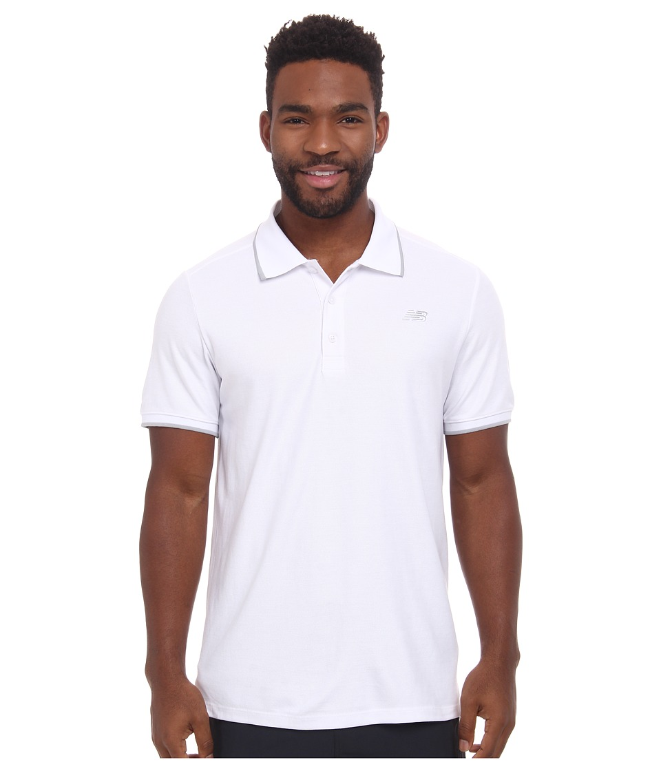 New Balance - Challenger Classic Polo (White) Men's Short Sleeve Pullover