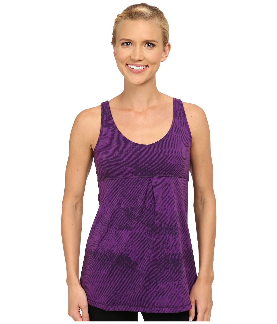 Lucy - Core Up Tunic (Purple Orchid Ripple Print) Women's Workout