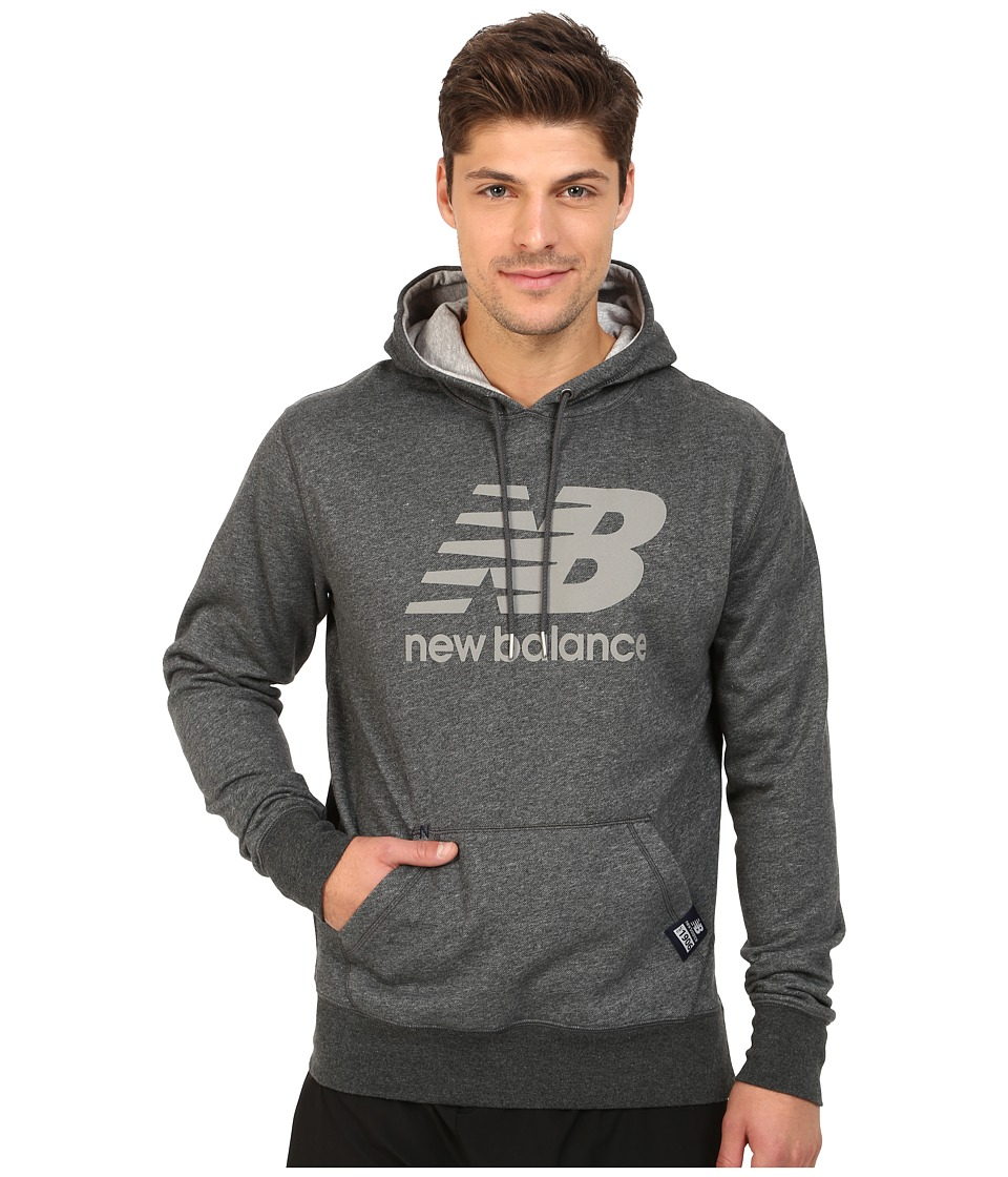 New Balance - Pullover Hoodie (Heather Charcoal/Reflective) Men's Sweatshirt
