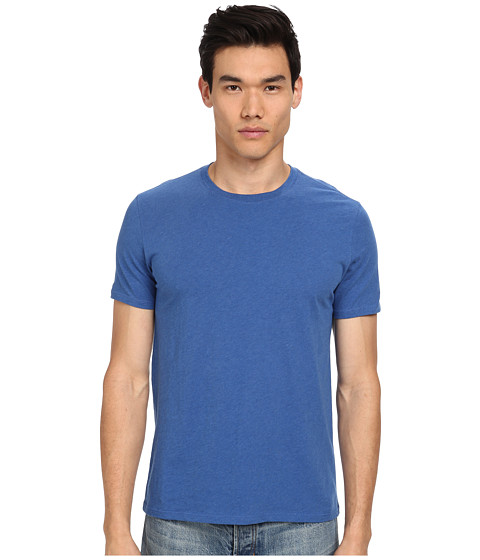 Vince - Pima Crew Neck Tee (Heather Cobalt) Men's T Shirt