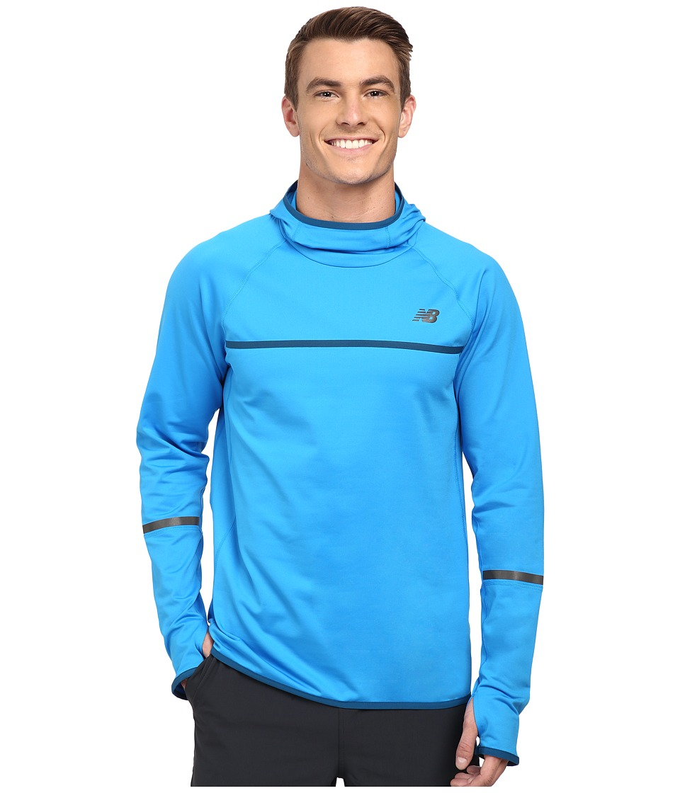 New Balance - NB Heat Pullover Hoodie (Bolt) Men's Long Sleeve Pullover