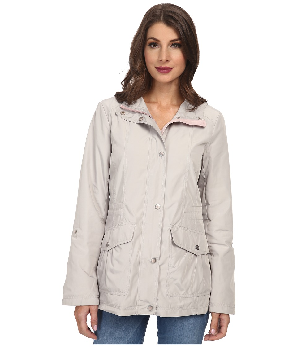 Jessica Simpson - Snap Front Anorak with Contrast Lining (Silver/Rose) Women's Coat