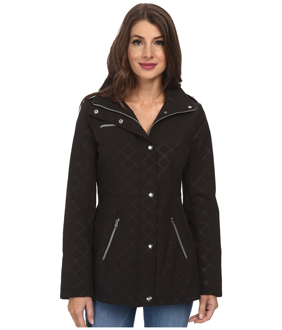 Jessica Simpson - Embossed Soft Shell (Black) Women's Coat