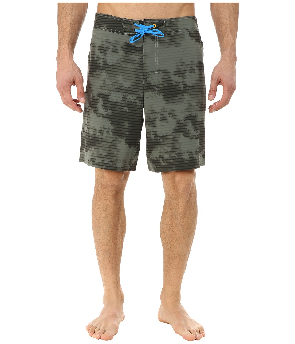 New Balance - Stretch Woven Board Short (Slate Green Print) Men's Shorts
