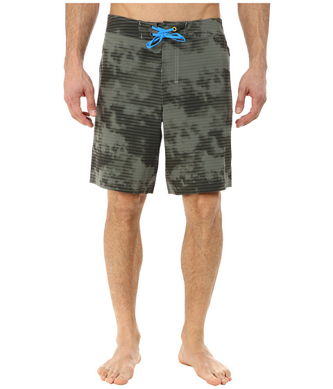 New Balance - Stretch Woven Board Short (Slate Green Print) Men