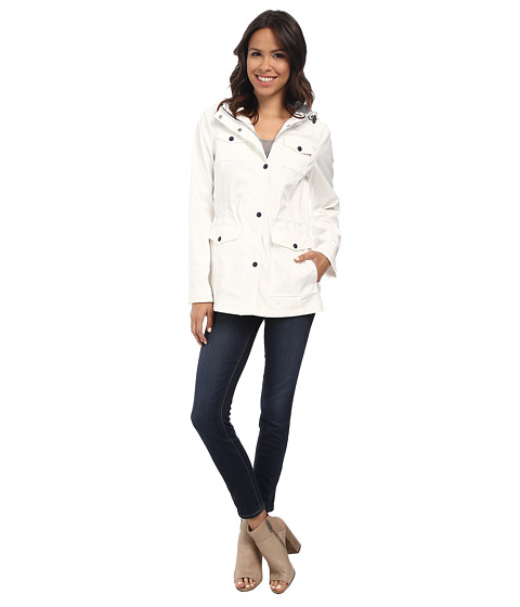 Jessica Simpson - Polybonded Anorak with Patch Pocket (White) Women's Coat