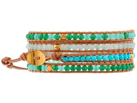 Chan Luu - 32 Turquoise Mix/Beige Wrap (Turquoise Mix/Beige) Bracelet