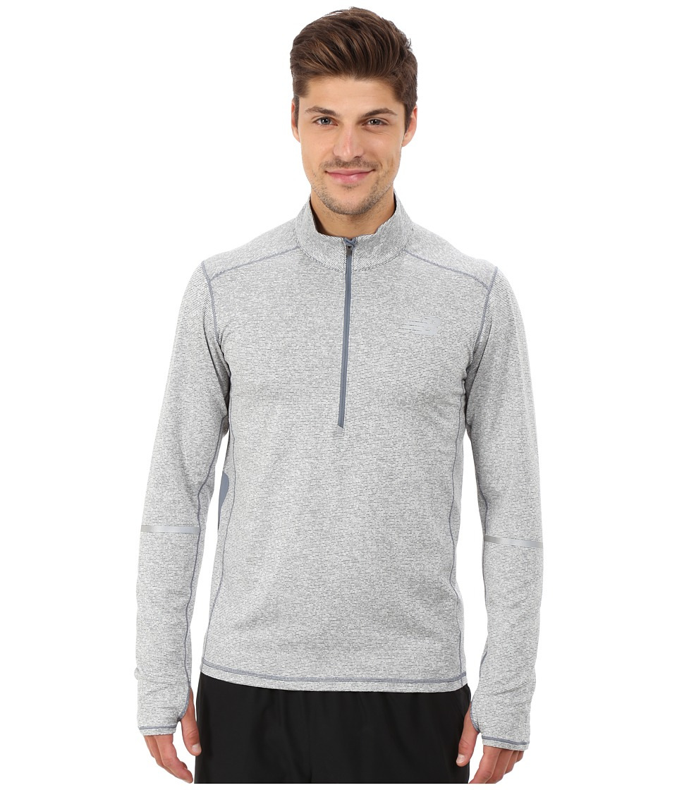 New Balance - Beacon Half Zip (Harbor Blue Heather) Men's Long Sleeve Pullover