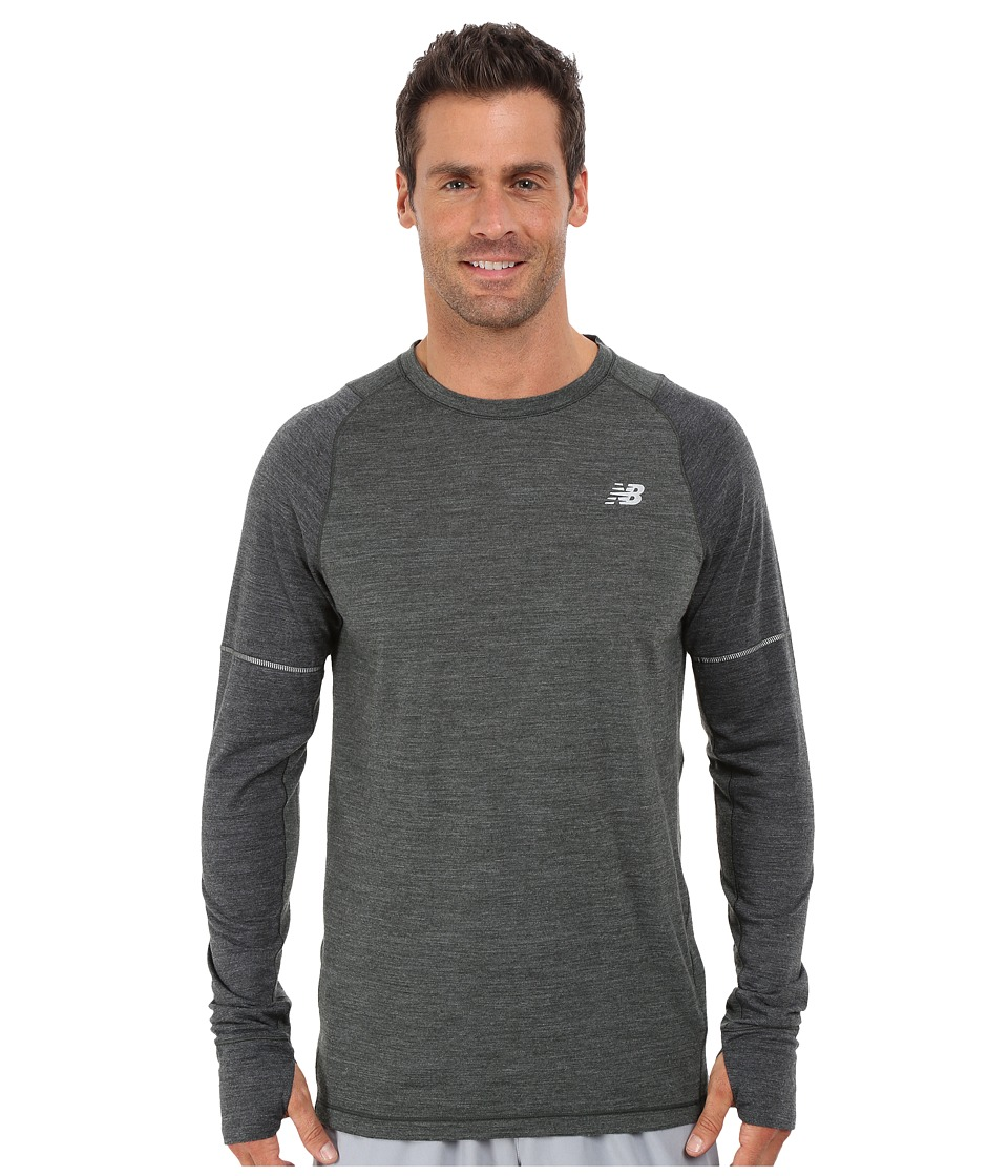 New Balance - Performance Merino Long Sleeve (Defense Green/Multi/Heather Charcoal) Men