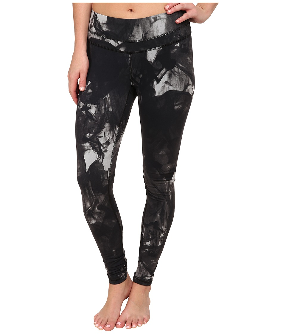 Lucy - Studio Hatha Legging (Fossil Smoke Print) Women's Workout