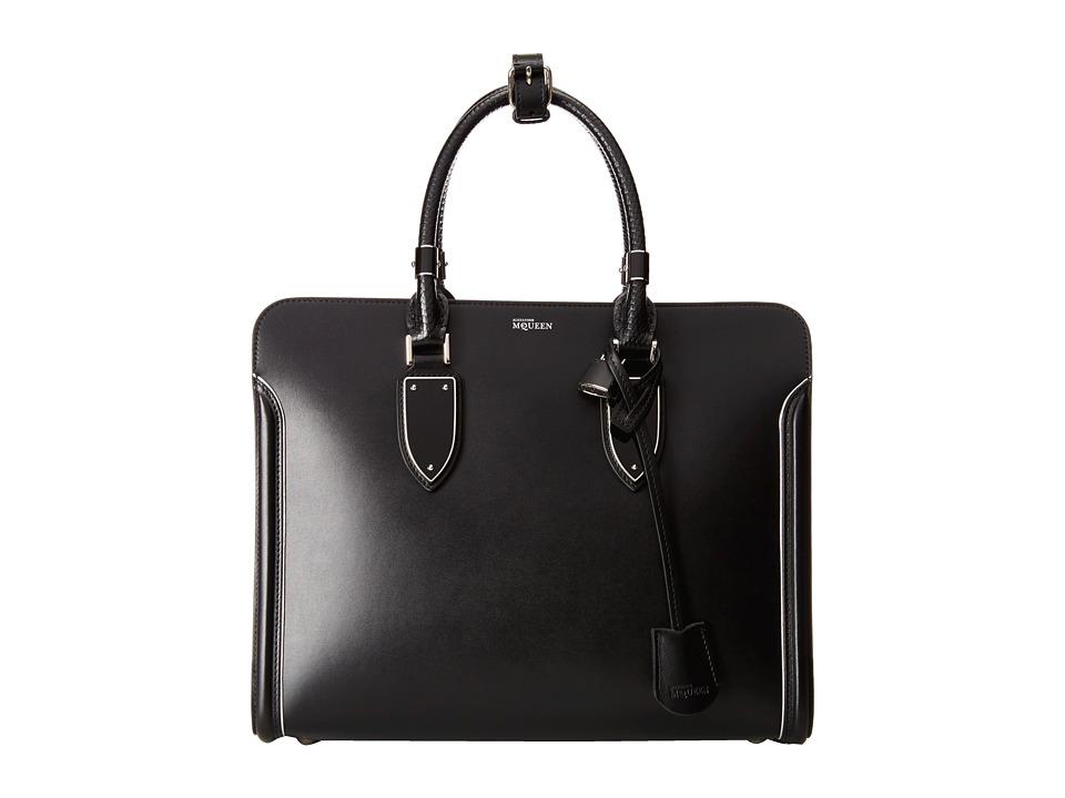 Alexander McQueen - Heroine Open Tote (Black/Black/Silver) Tote Handbags