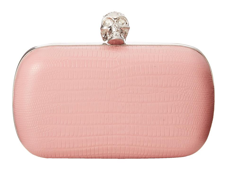 Alexander McQueen - Classic Skull Clutch (Geisha Pink) Handbags