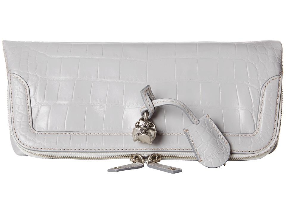 Alexander McQueen - Padlock Clutch (Silver Blue) Clutch Handbags