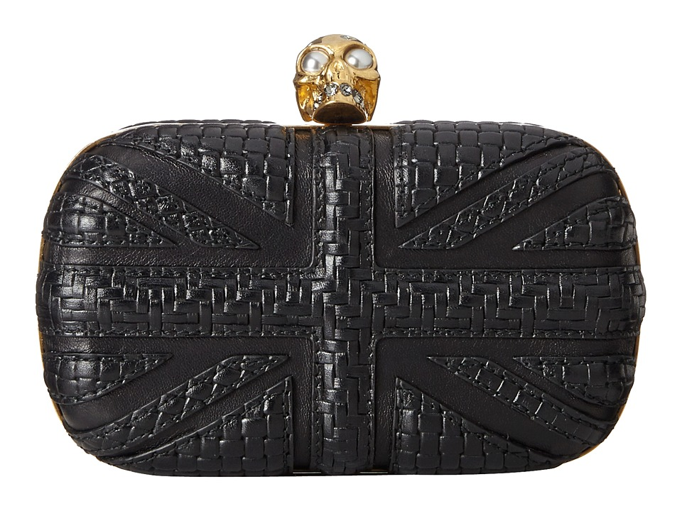 Alexander McQueen - Skull Clutch w/ Chain (Black) Clutch Handbags