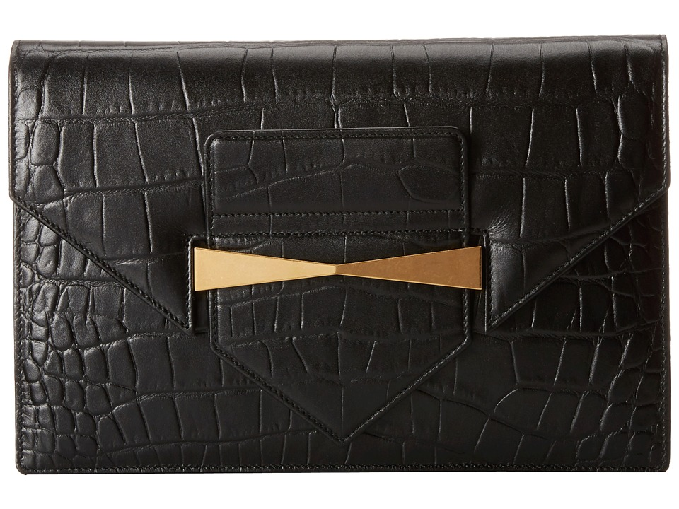 Alexander McQueen - Envelope Clutch (Black) Clutch Handbags
