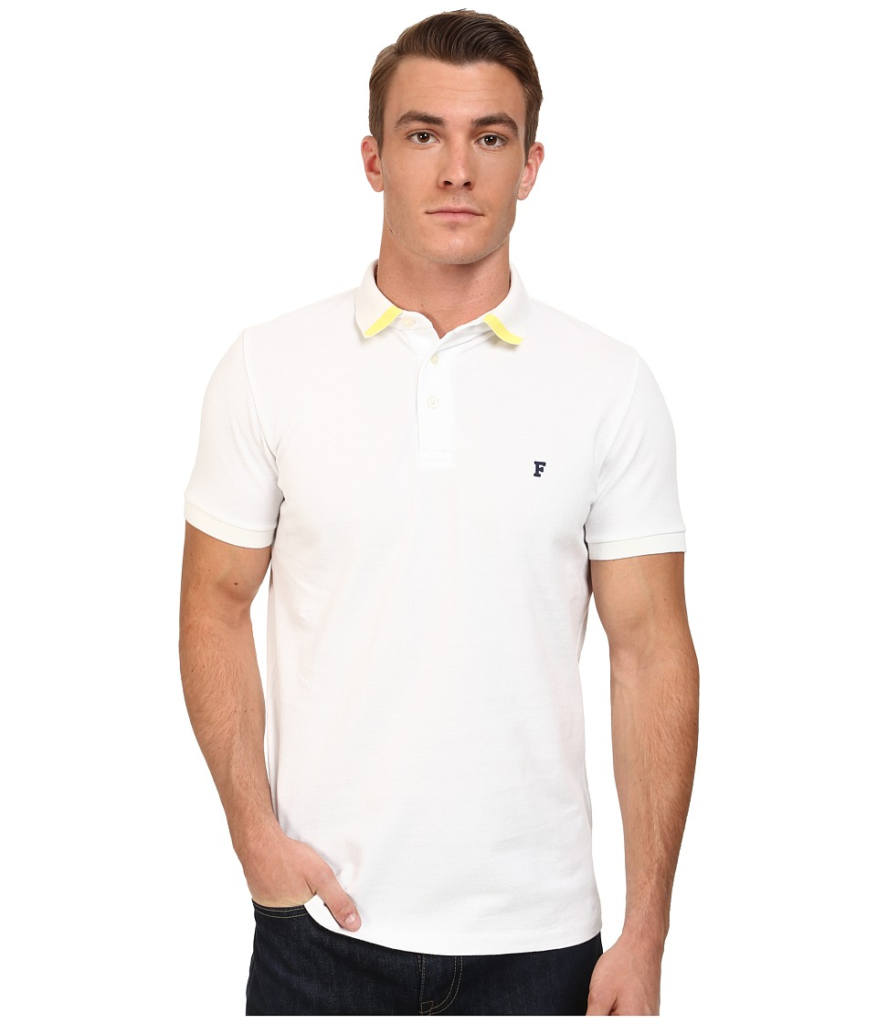 French Connection - Simple Flash Polo (White/Limelight) Men
