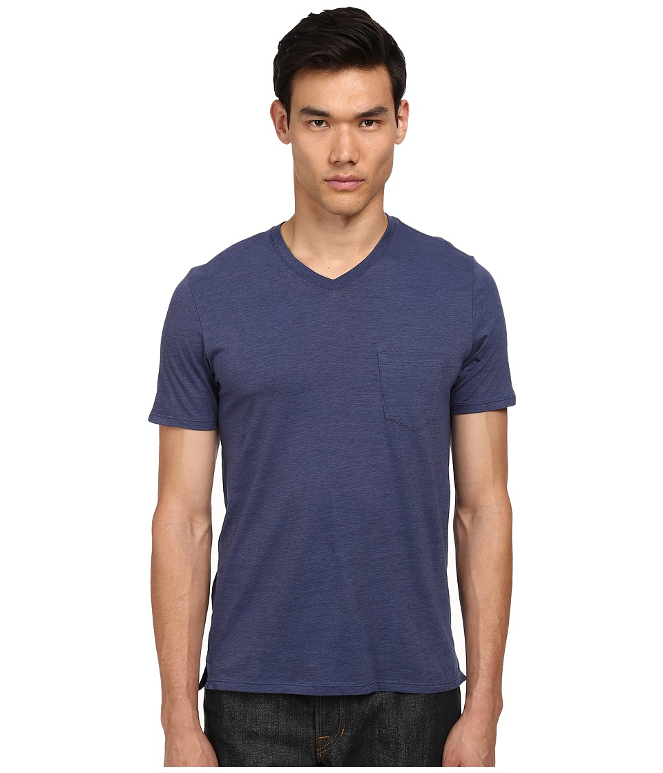Vince - V-Neck Pocket Tee (Indigo/Blue Moon) Men's T Shirt