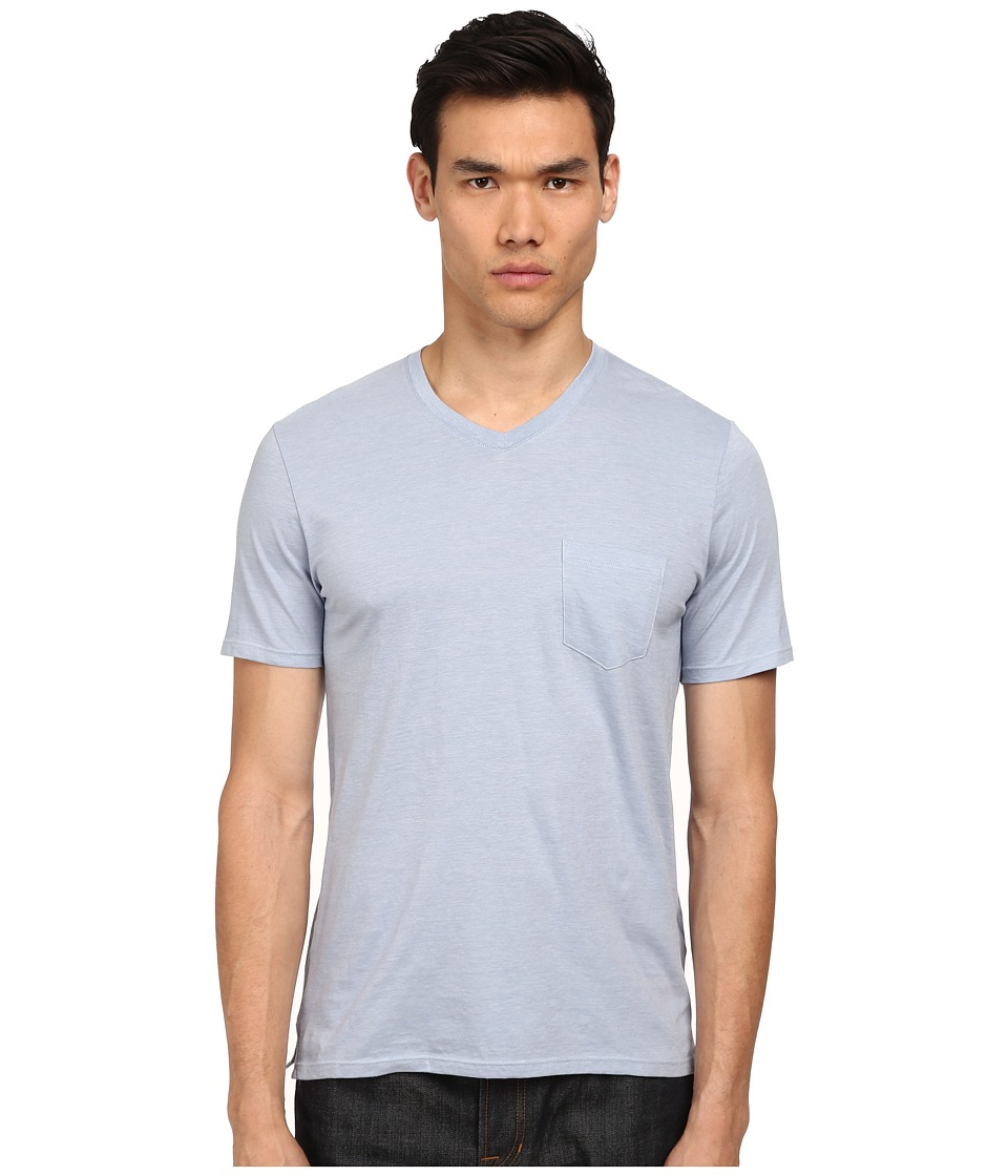 Vince - V-Neck Pocket Tee (Still Water/Paris Rain) Men's T Shirt