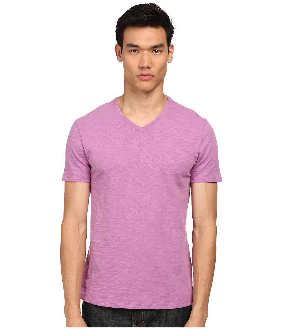 Vince - S/S V-Neck T-Shirt (Peony) Men's Short Sleeve Pullover