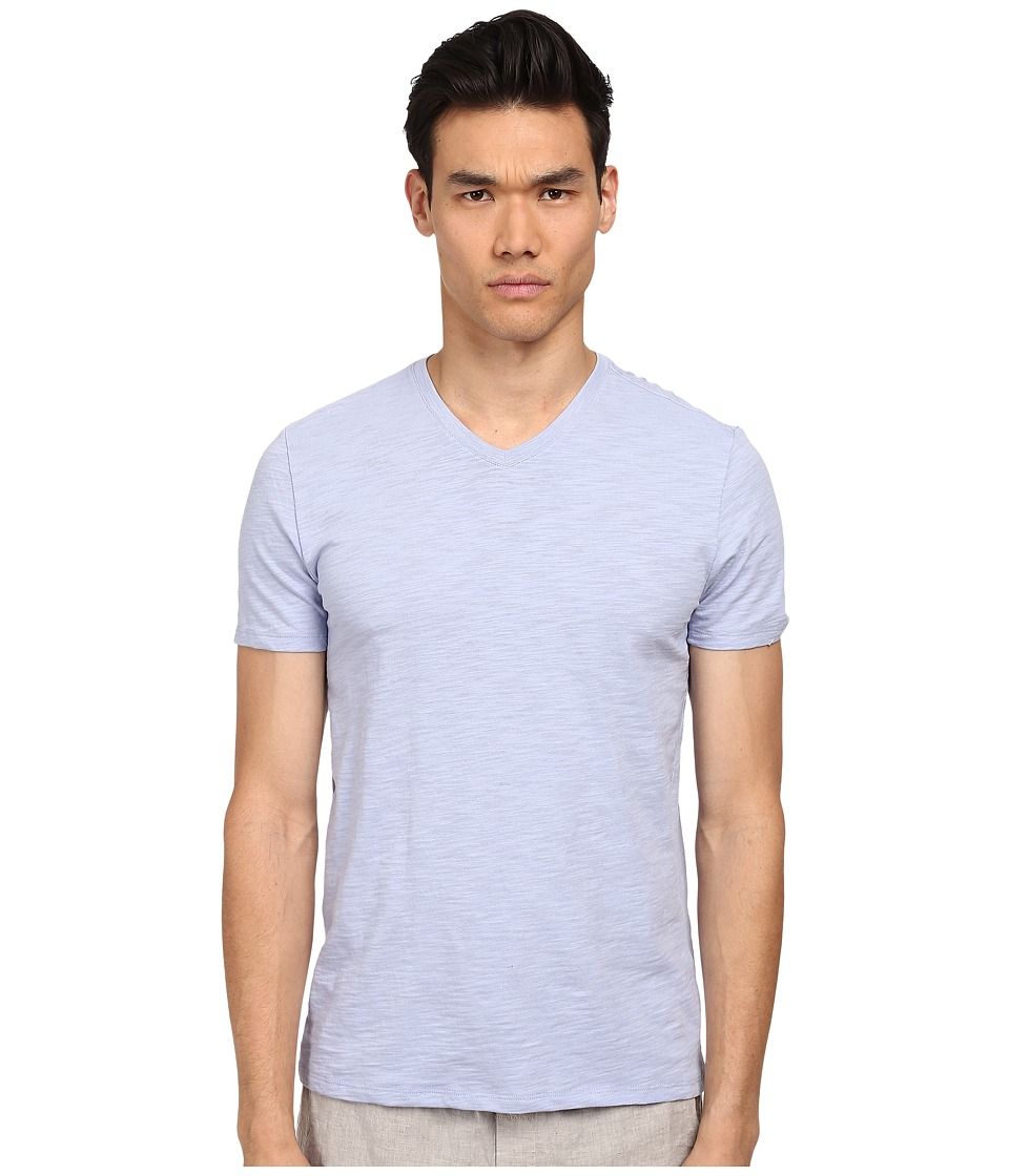 Vince - S/S V-Neck T-Shirt (Hydrangea 2) Men's Short Sleeve Pullover