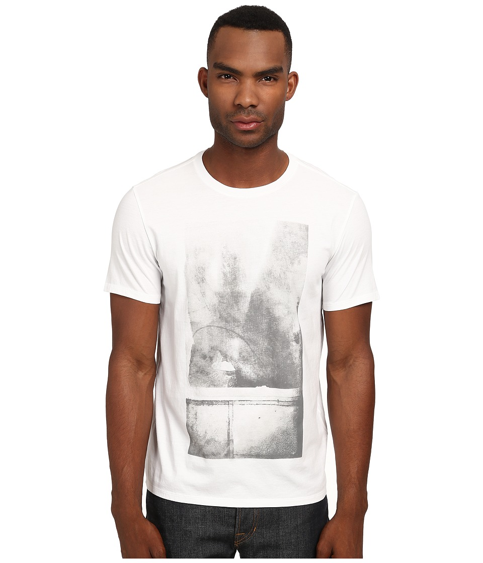 Vince - Water Abstract Graphic Tee (White) Men