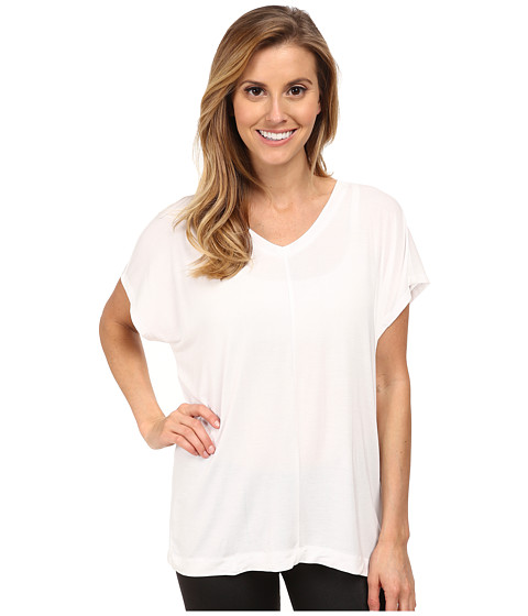 Zobha - Irene Mesh Back Tee (White) Women
